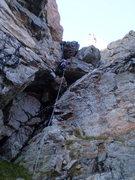 Rock Climbing Photo: The third rappel.
