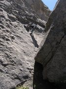 Rock Climbing Photo: Patty clipping the first bolt on Tiramisu (she's n...
