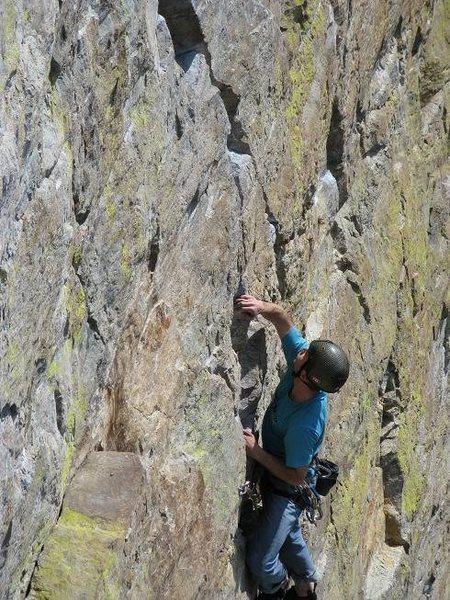 Rock Climbing Photo: Toward the start of Wings of Desire