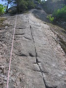 Rock Climbing Photo: the upper part of the climb, freshly scrubbed and ...