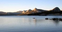 Rock Climbing Photo: A lone fisherman calls it a day. Courtright Reserv...