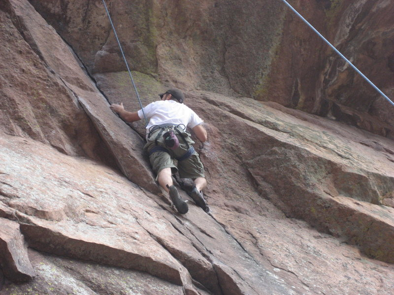 Rock Climbing Photo: Good crack for skinny fingers (not mine, LOL)