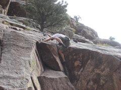 Rock Climbing Photo: Getting a leg up!!!