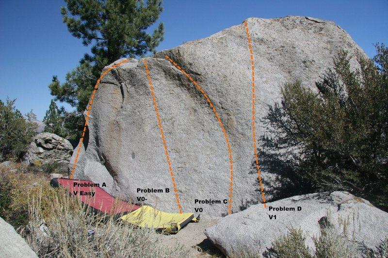 Slab Boulder Topo, West face