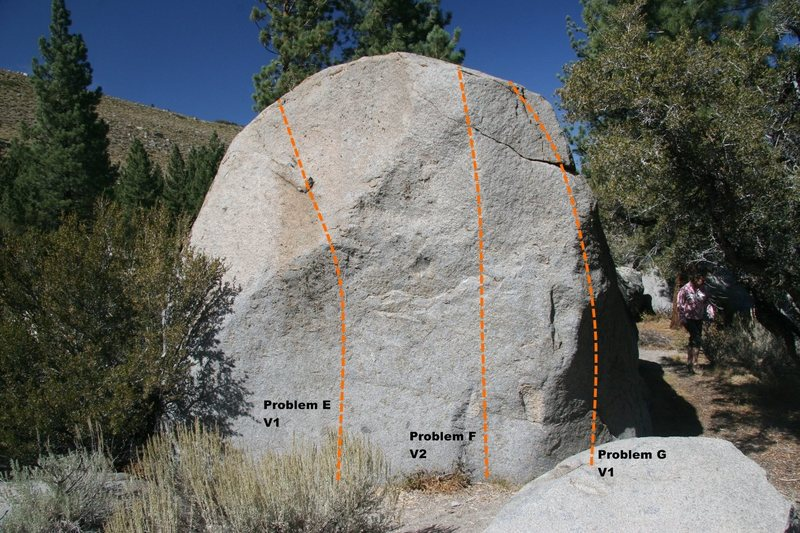 Slab Boulder Topo, South face