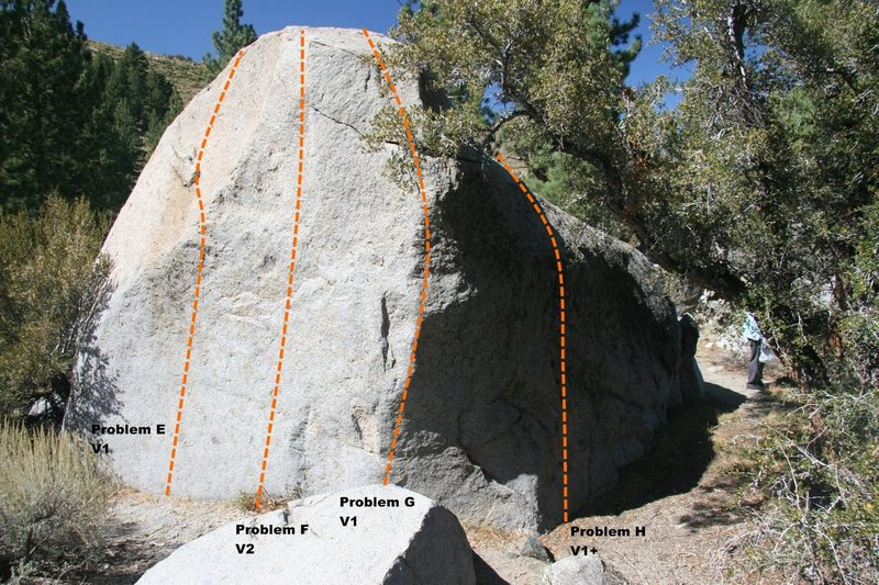 Slab Boulder Topo, South East face