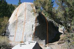 Rock Climbing Photo: Slab Boulder Topo, South East face