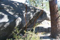 Rock Climbing Photo: Power Boulder Topo - West Face