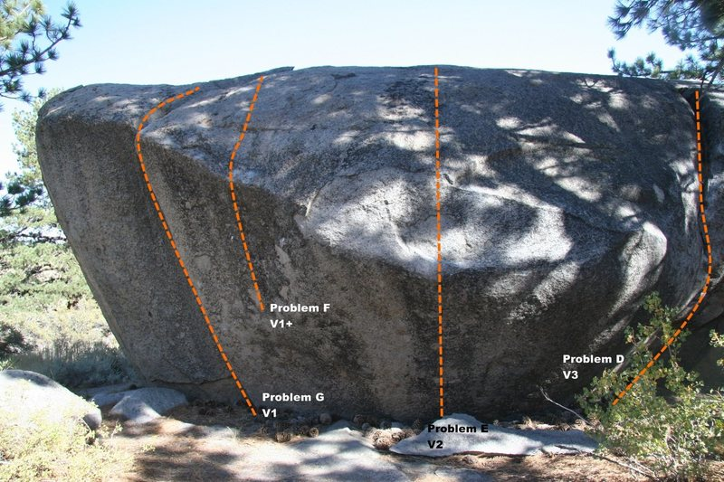 Power Boulder Topo - North West Face