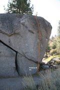 Rock Climbing Photo: Power Boulder Topo - North East Face
