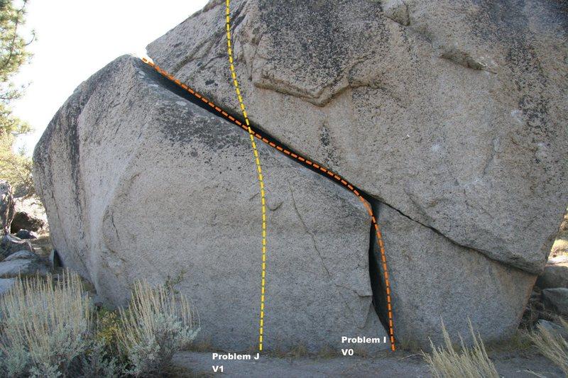 Power Boulder Topo - East Face