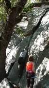 Rock Climbing Photo: Jerry, low on the route
