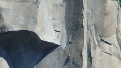 Rock Climbing Photo: Climber on the route just to the right of the Grea...