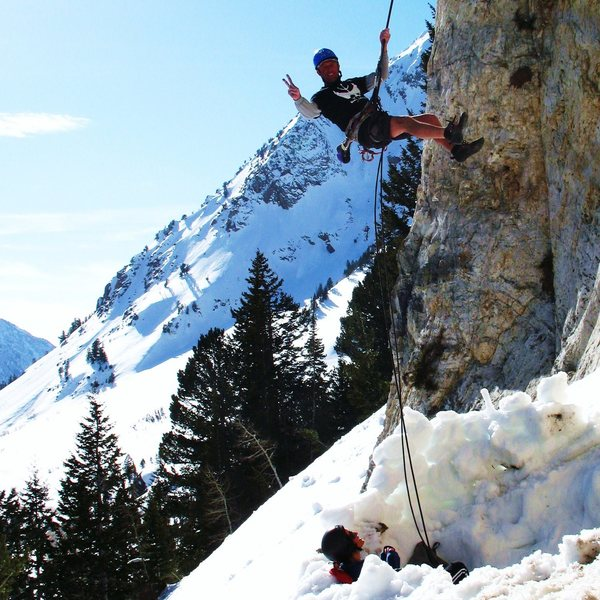 Rock Climbing Photo: Greg & crew on Melting Mud wall in winter