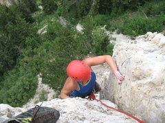Rock Climbing Photo: Laura Dewey on Devils Advocate Extension