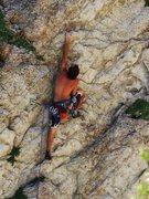 Rock Climbing Photo: Mike Bird on Purple Pumper