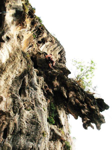 Rock Climbing Photo: Jimmy Finen on Dr.Jekel & Mrs. Hyde 123 wall