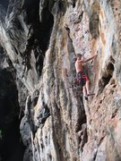Rock Climbing Photo: Jimmy Finen at Escher Wall on Short & Easy