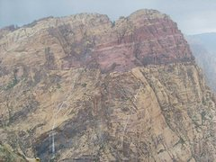 Rock Climbing Photo: So that's how those waterstreaks get there.  A sum...