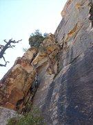 Rock Climbing Photo: The first headwall pitch.