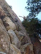 Rock Climbing Photo: Higher on the second headwall pitch.