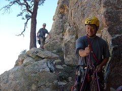 Rock Climbing Photo: Good ledge just before the summit.
