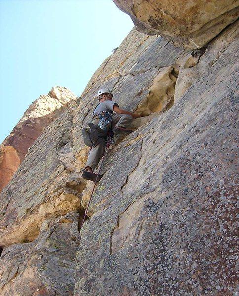 Rock Climbing Photo: The summit pitch.
