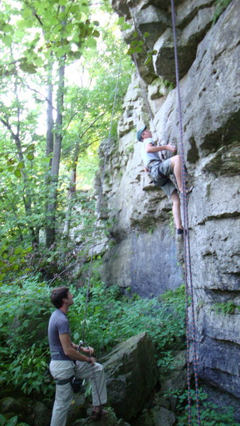 Rock Climbing Photo: Mike pulling his vestibular sense