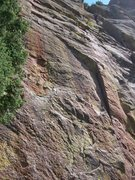 Rock Climbing Photo: Overview of Sidewinder, any info. Cuts left @ the ...