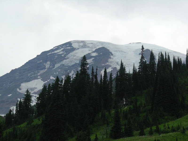 Rock Climbing Photo: Rainier and what's to come