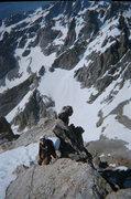Rock Climbing Photo: on the upper Exum
