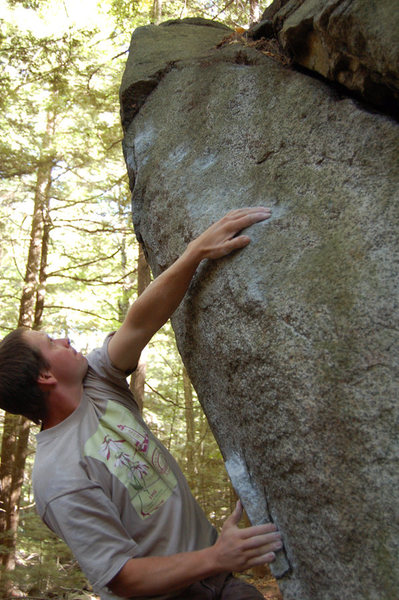 Rock Climbing Photo: Mike sticking to the slopers.