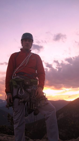 sunset on Sundance Buttress