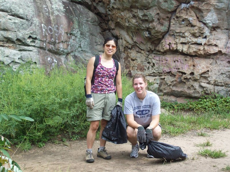 Rock Climbing Photo: Jane Lu and friend came from Atlanta to help!