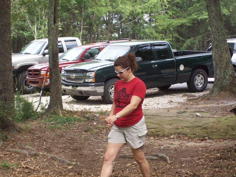 SCC President Mischelle Connell on the move, keeping things going.