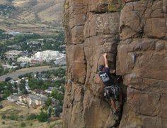 Rock Climbing Photo: Brown Cloud Rocks Area, North Table MT, Golden