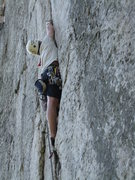 Rock Climbing Photo: Urtiscay Unyanray learns the story of Pollux