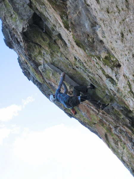 Rock Climbing Photo: Jesse Schultz fighting for the second ascent of Or...