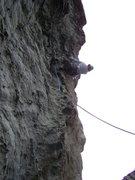 Rock Climbing Photo: mark pushin for the top