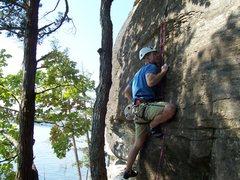 Rock Climbing Photo: Erik on Freefall Direct.