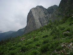 Rock Climbing Photo: A giant wedge-o-slab beneath Grimsel Pass.  About ...