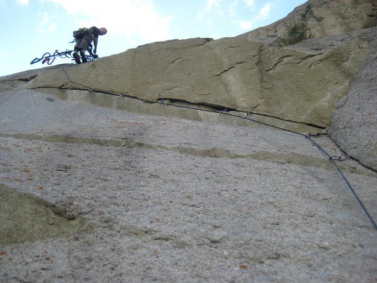 Rock Climbing Photo: Christian Burrell on the beautiful 3rd pitch of St...