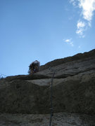 "Rock Climbing Photo: Me at start of the actual ""hook"" travers..."