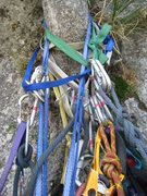Rock Climbing Photo: Cluster!!! The belay tree at the top of pitch 4.