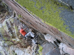 "Rock Climbing Photo: EFR on the lower ""easier"" section of Ori..."