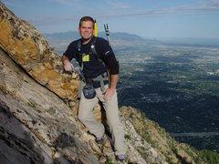 Rock Climbing Photo: Self portrait, West Slabs, Mt. Olympus, Utah.