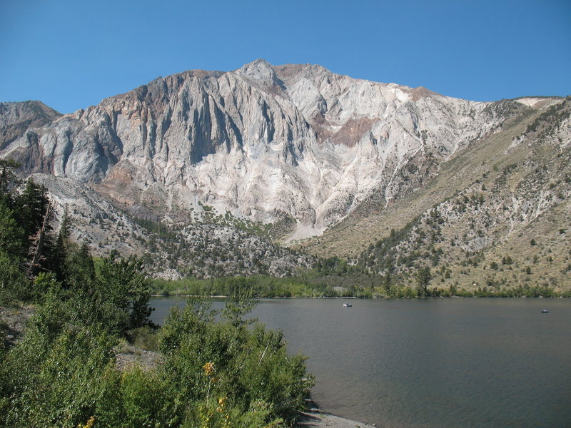 Laurel Mountain from the shores of Convict Lake, Sierra Eastside.