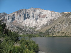 Rock Climbing Photo: Laurel Mountain from the shores of Convict Lake, S...