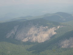 Rock Climbing Photo: Hazy long shot of Laurel Knob 09/08