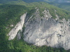 Rock Climbing Photo: Laurel Knob and Dillard canyon from above 09/08